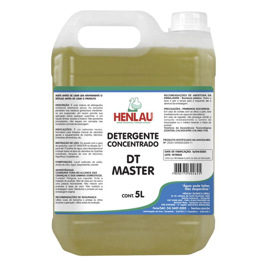 Detergente concentrado neutro DT Master Henlau 5 litros