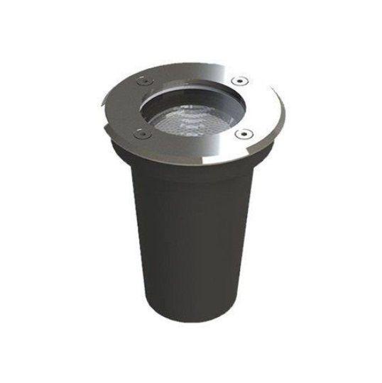 Luminária de Chão / Embutido de Solo LED com aro externo em inox 8W 2700K Save Energy