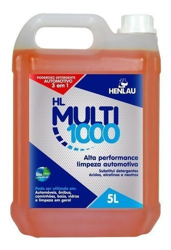 HL Multi 1000 3 em 1 5L Henlau Substitui solupan, ativado e shampoo