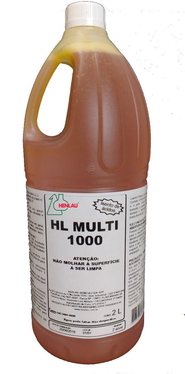 HL Multi 1000 3 em 1 - Substitui solupan, shampoo, ativado - 2 litros - Henlau