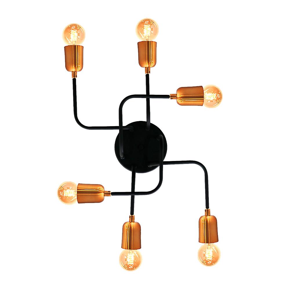 Kit 1 Plafon Filamento  + 6 Lâmpada Led A60