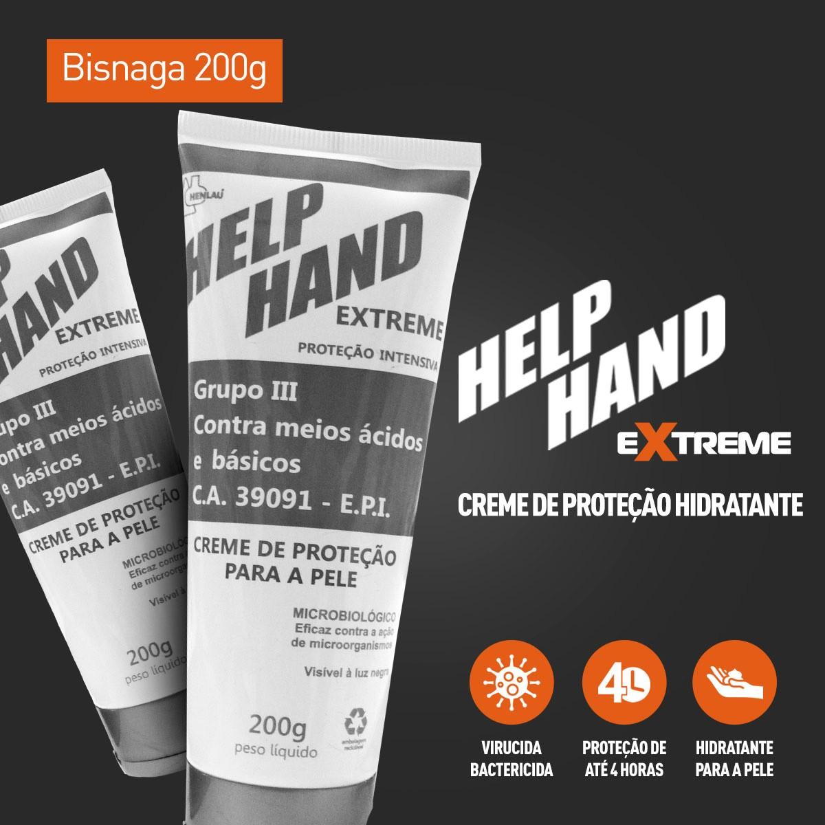 Kit 2 Hand Help Extreme Creme de Proteção Contra o Covid-19 200g
