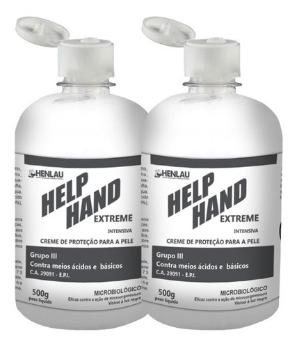 Kit 2 x Help Hand Extreme Creme Hidratante De Proteção 500g