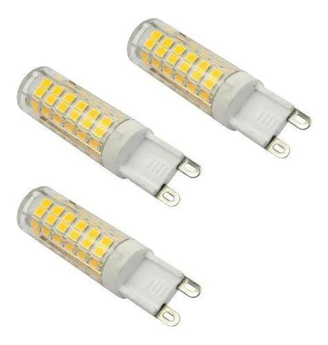 Kit 3 Lâmpadas G9 Led 3000k Branco Quente ou  Branco Frio 6000k