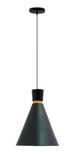 Kit 3 Pendentes para cozinha / sala de jantar Dual preto fosco com cobre em alumínio para 1x lâmpada e-27 210mm x 200mm