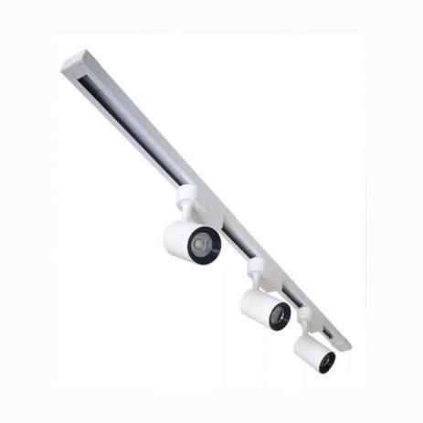 Kit 3 Spot 7W Branco 3000k + Trilho Eletrificado 1 metro Branco