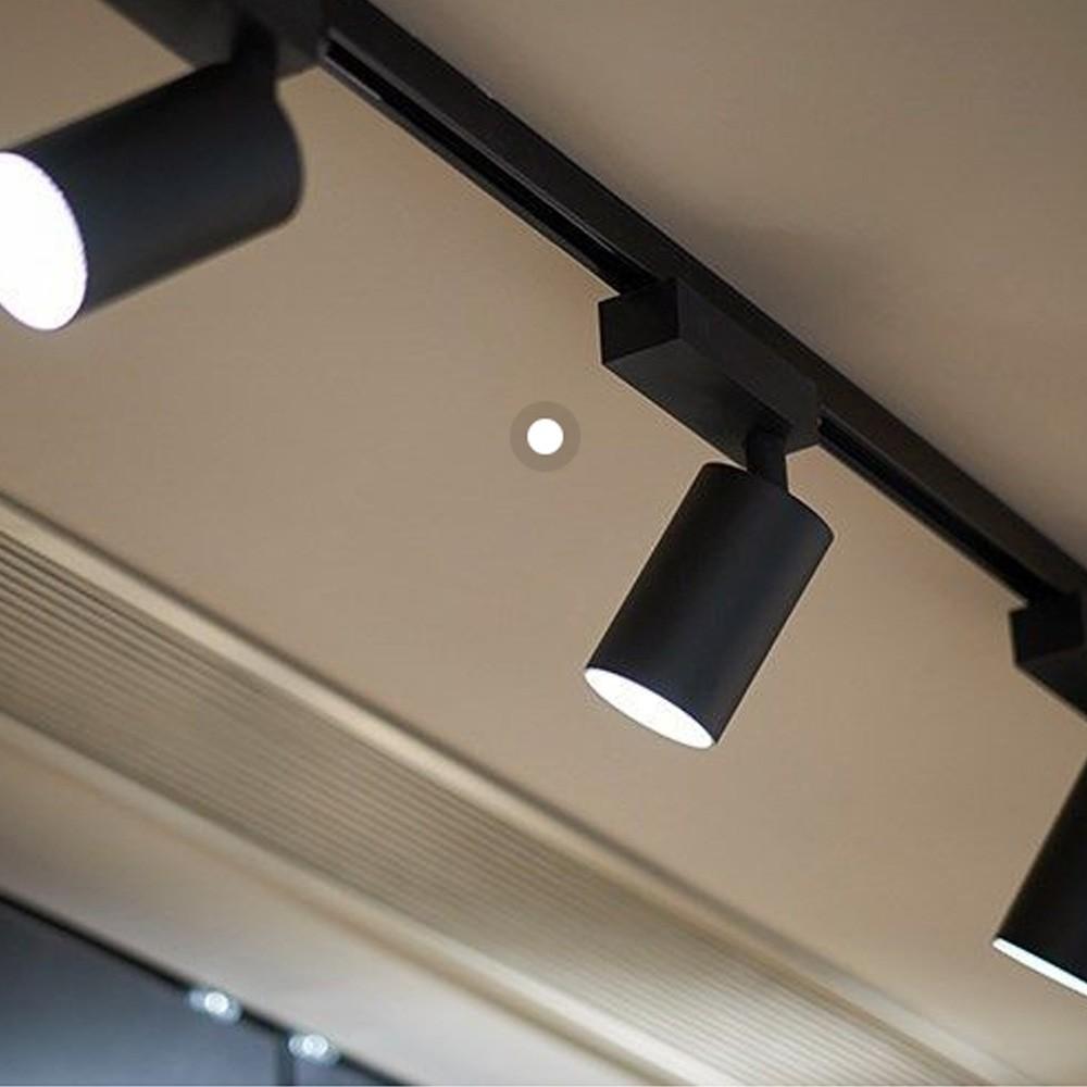 Kit 3 Spot 12W Preto + Trilho Eletrificado 1 metro Preto