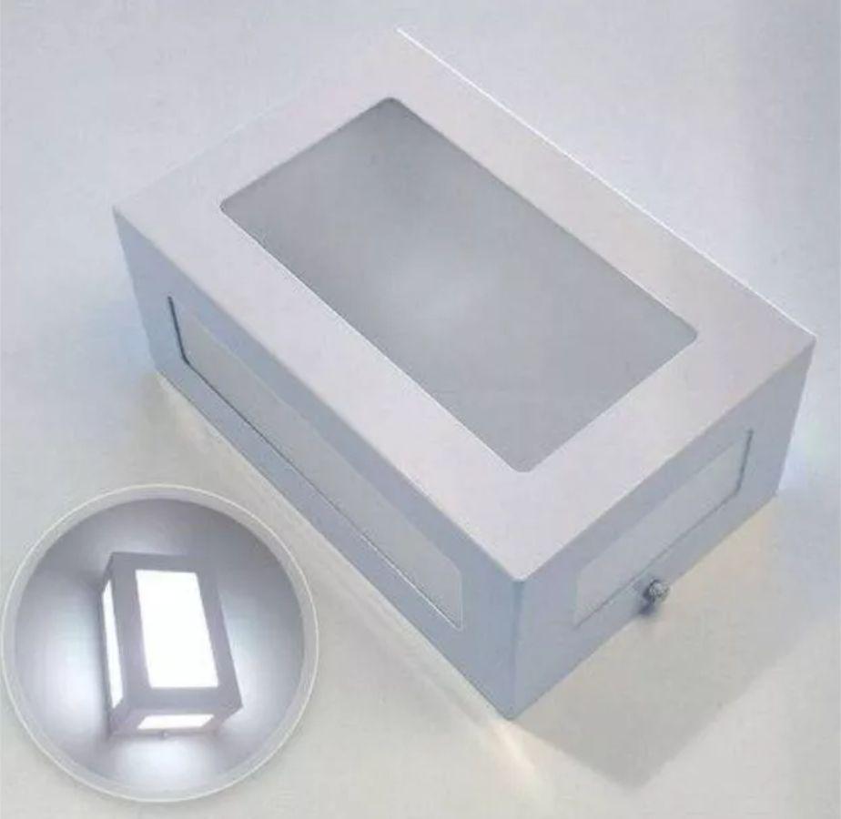 Kit 4 Arandela Branca 5 vidros/difusores em alumínio para 1x Lâmpada E-27