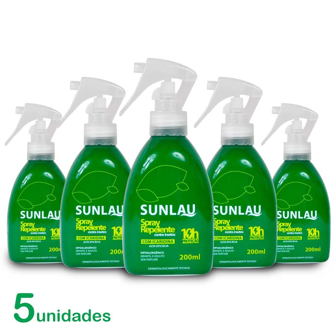 Kit 5 Repelente Sunlau Spray para Roupa com Icaridina