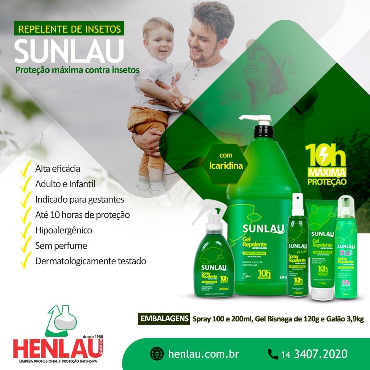 Kit 6 Repelente Sunlau Spray para Roupa com Icaridina