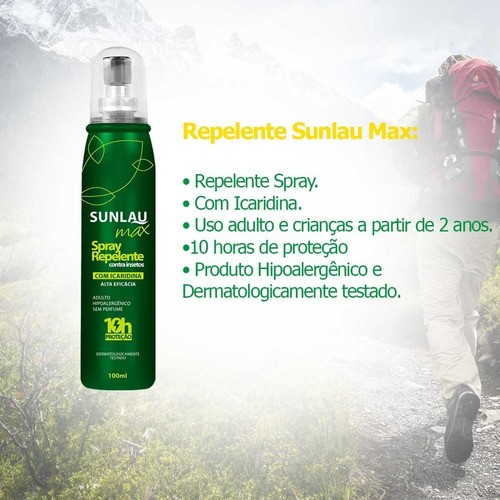 Kit Verão Sunlau Repelente + Protetor Solar FPS 30