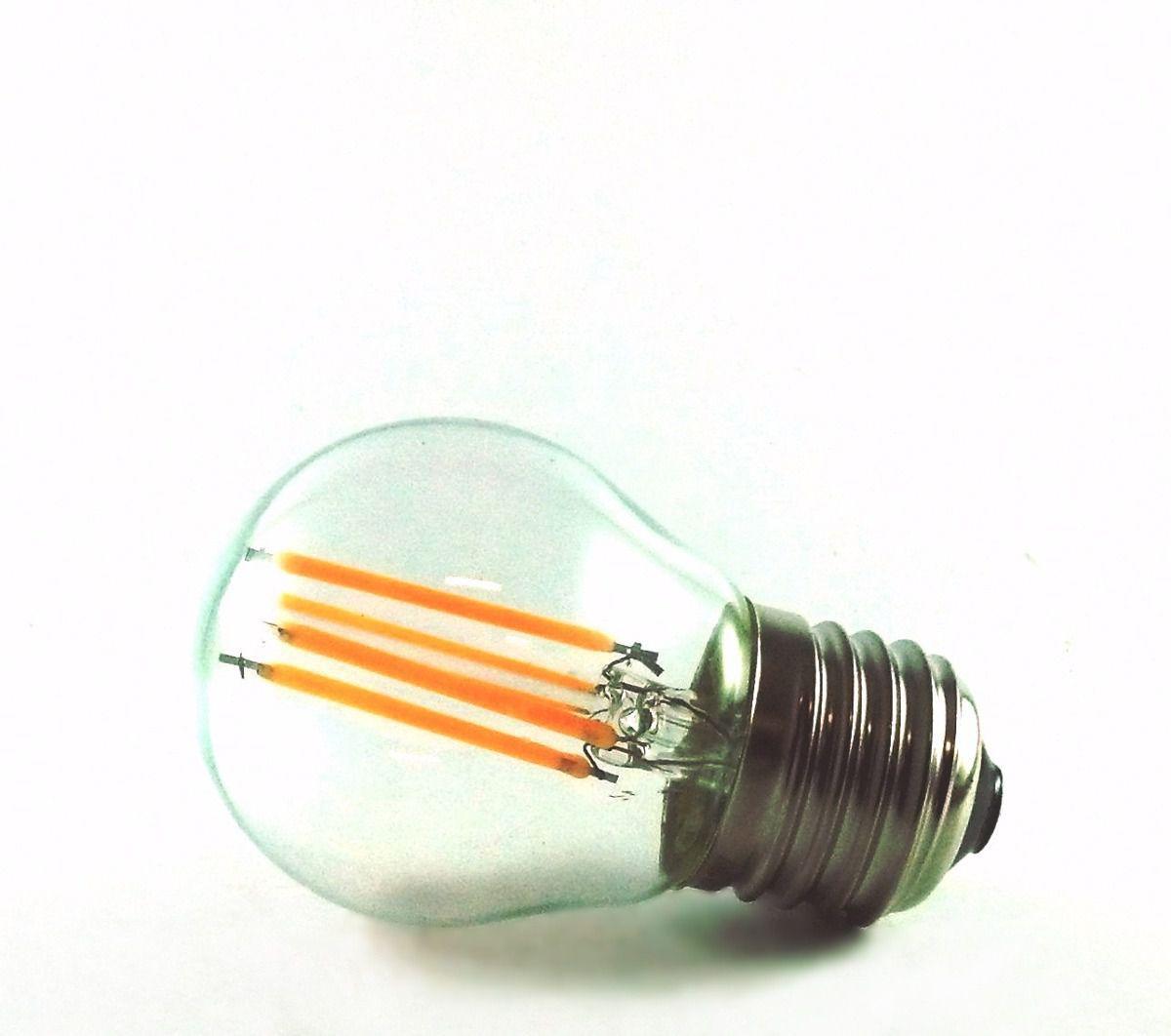 Lâmpada LED de filamento bolinha 4w Bivolt  G45
