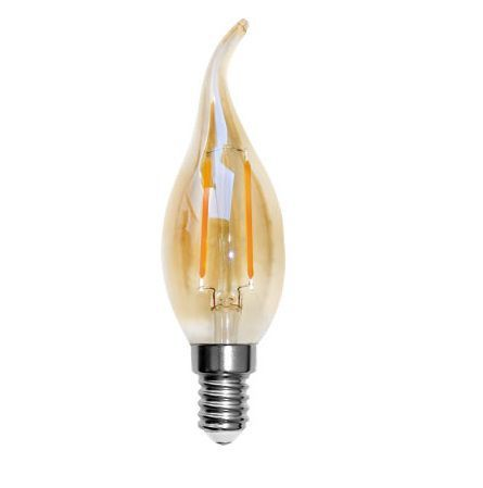 Lâmpada LED Vintage de Filamento Vela Chama Âmbar 2200K 2W Evoled