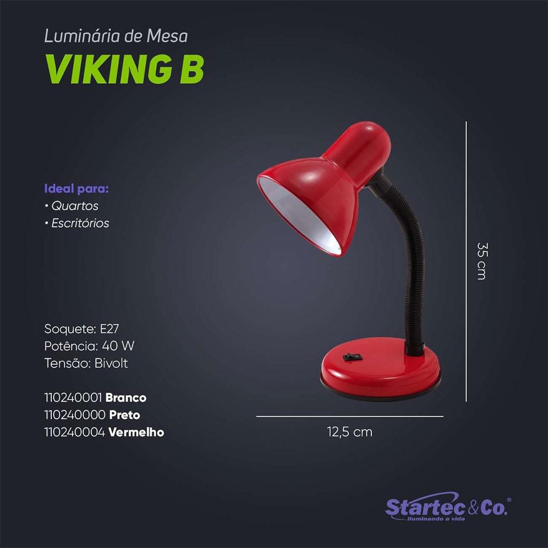 Luminária de Mesa Viking Preta