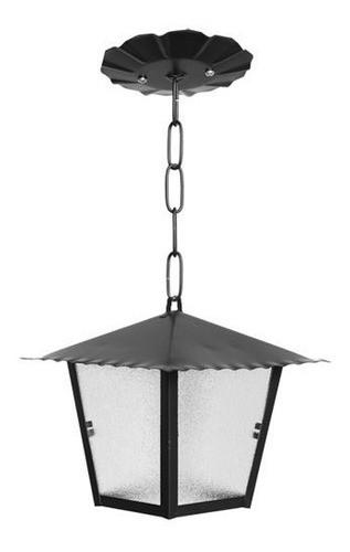 Luminária Pendente colonial em aço e alumínio Sinhá 1201 Incolustre 1201 com pintura eletrostática