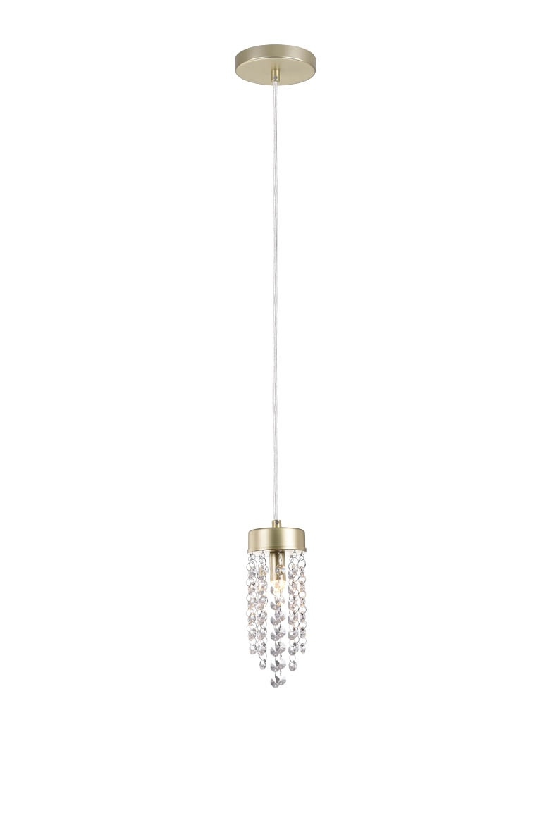 Luminária Pendente dourado Cristal light Blumenau 89621130