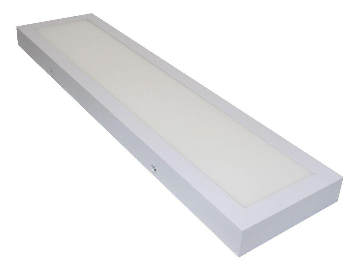 Luminária retangular sobrepor 25W LED 6500K 15cm x 60cm