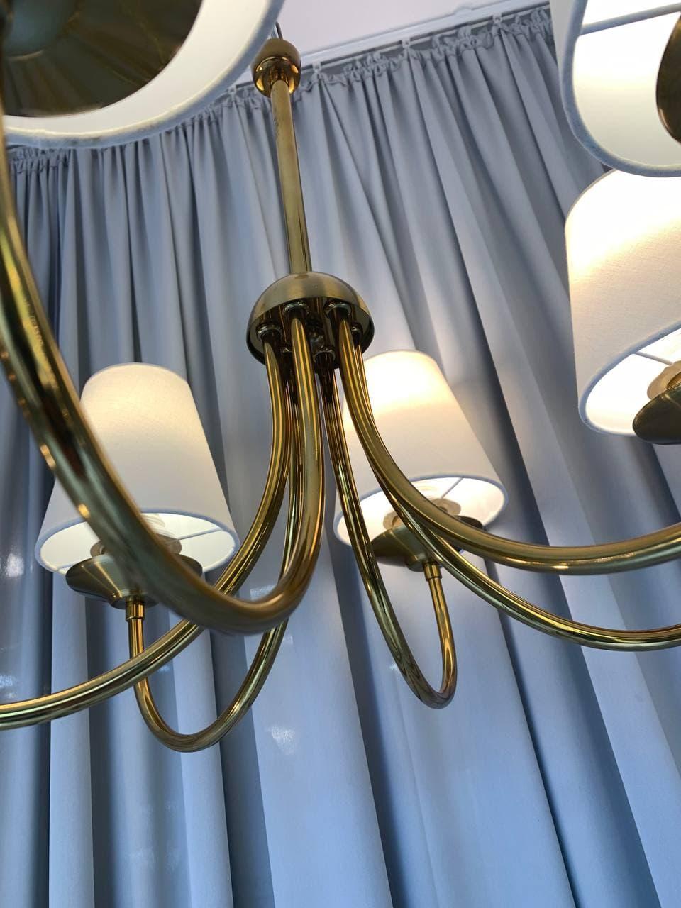 Lustre Clássico Madrid 6 braços 60 cm em alumínio