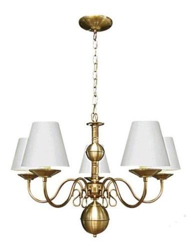 Lustre Clássico Vintage Cúpula para 5 lâmpadas E27 Ø65cm
