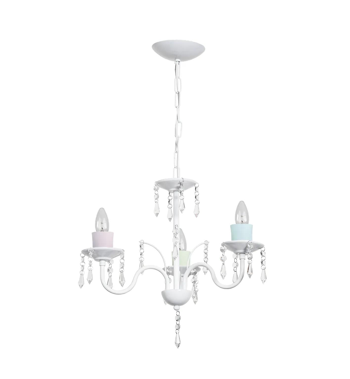 Lustre para dormitório infantil clássico vintage para 3 lâmpadas