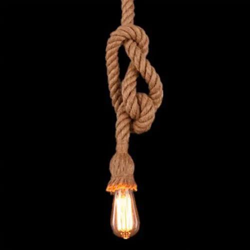 Lustre Pendente corda para 1xE27 Bivolt