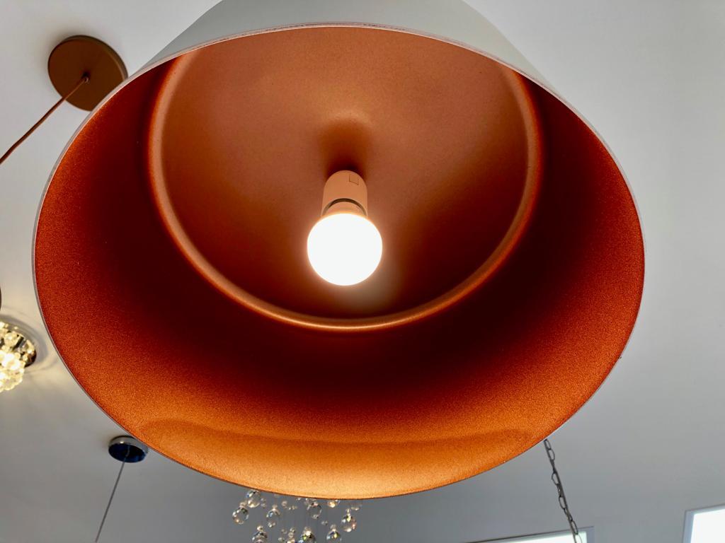Pendente Bilboquê 35 x 35 cm em alumínio para 1 lâmpada New Line 112BTCOCO