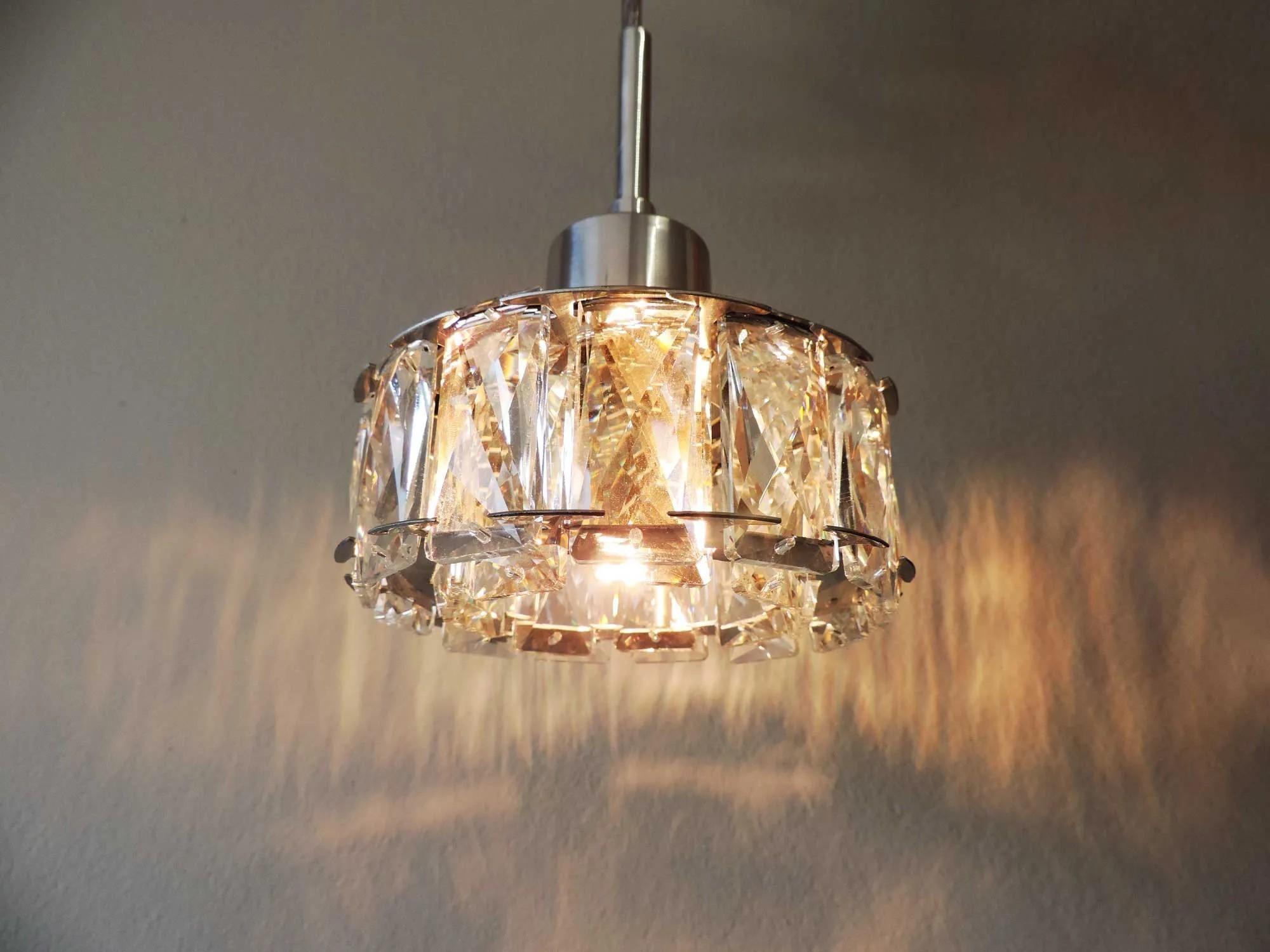 Pendente Cristal K9 para sala transparente 4929 Diam125mm X H130mm para 1x Lâmpada G9