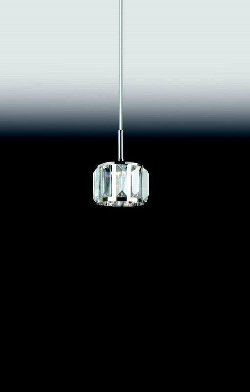 Pendente Cristal K9 Transparente para sala de jantar 4735 H160mm D110mm para 1x Lâmpada G9