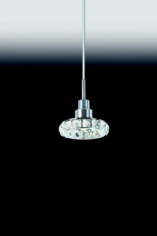 Pendente para sala de jantar Cristal K9 Transparente 4920 H125mm x D125mm para 1x Lâmpada G9
