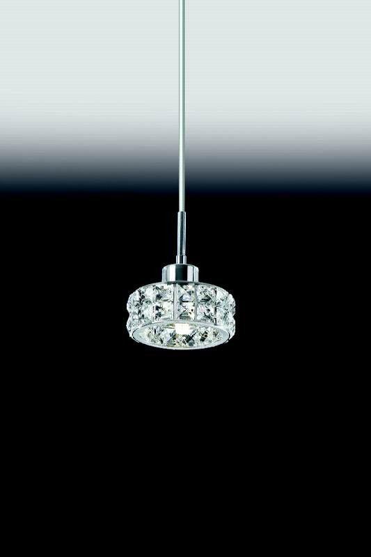 Pendente para sala de cristal K9 Transparente 4918 Diam. 125mm X H150mm para 1x Lâmpada G9