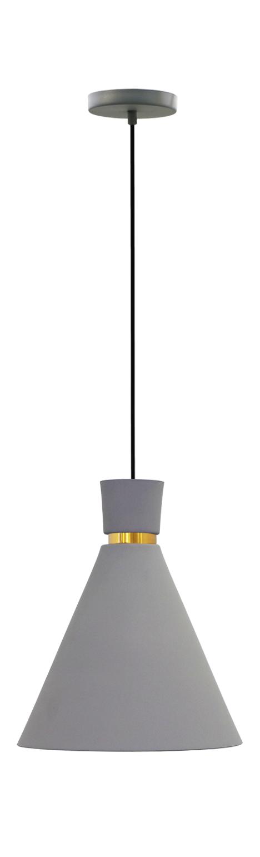 Pendente Dual estanho com dourado em alumínio para 1x lâmpada e-27 210mm x 200mm