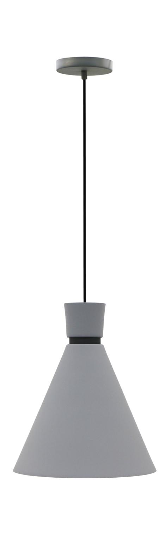 Pendente Dual estanho com preto fosco em alumínio para 1x lâmpada e-27 210mm x 200mm