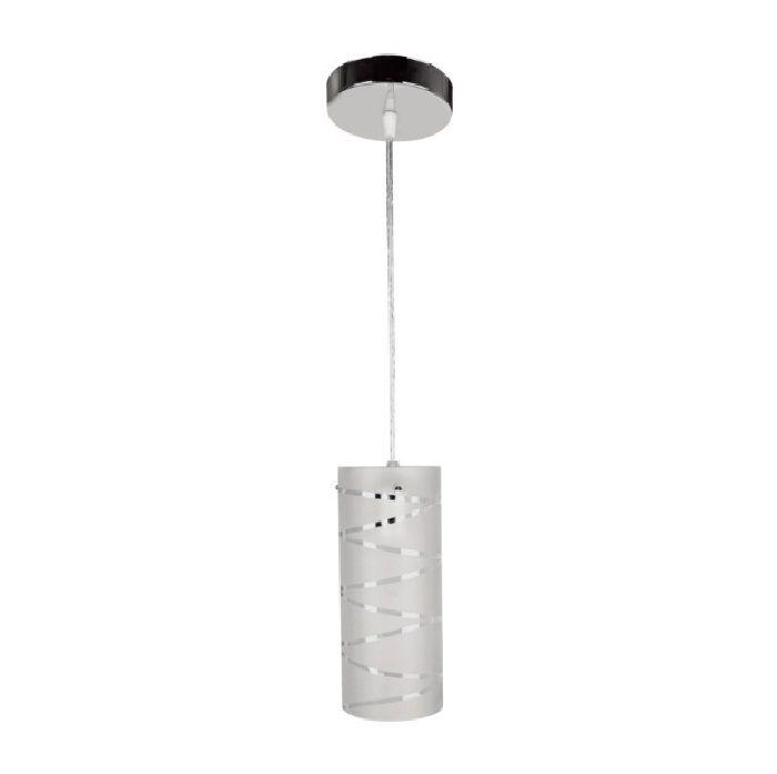 Pendente para cozinha com bancada americana First com difusor em vidro para 1x lâmpada E-27