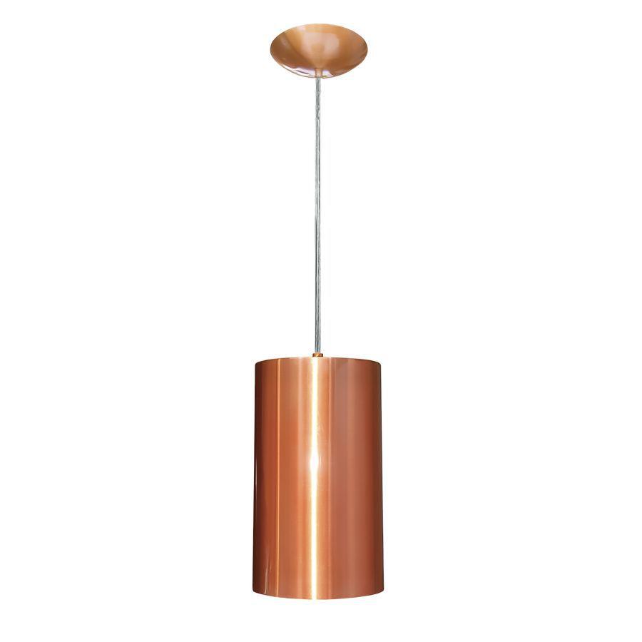 Pendente Luminária Cilindro Para 1 Lâmpada