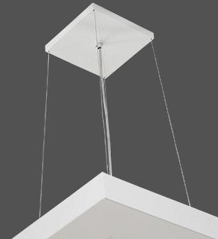 Pendente Luz Indireta e Direta 40cmx40cm 4x lâmpadas E27 E 4x lâmpadas GU10