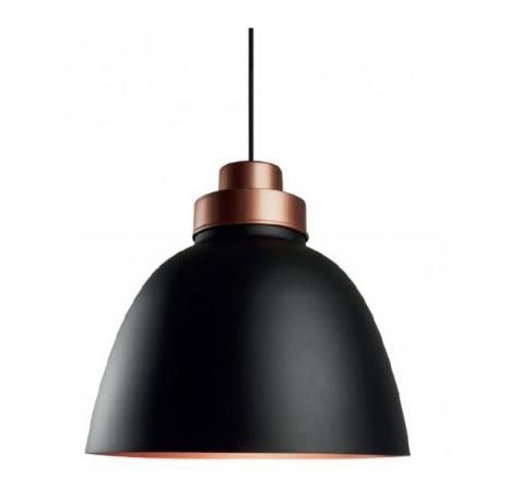 Pendente New Industrial Preto / Cobre / Cobre New Line 43,5 x 39 cm