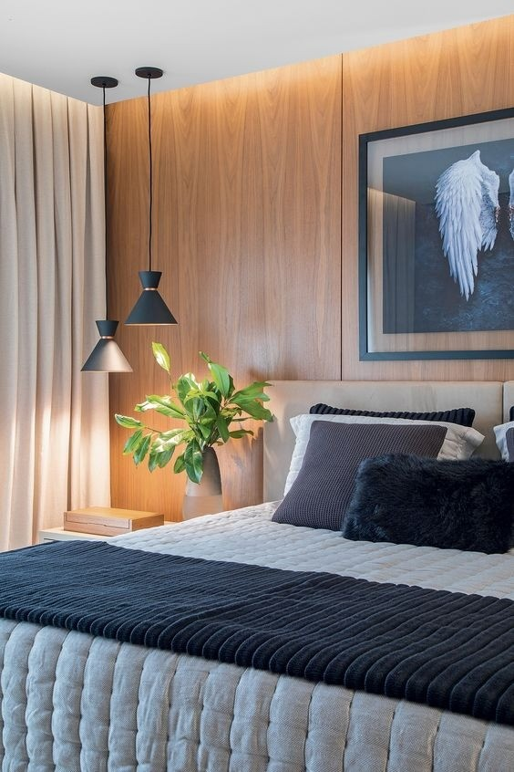 Pendente para cozinha / sala de jantar Dual preto fosco com cobre em alumínio para 1x lâmpada e-27 210mm x 200mm