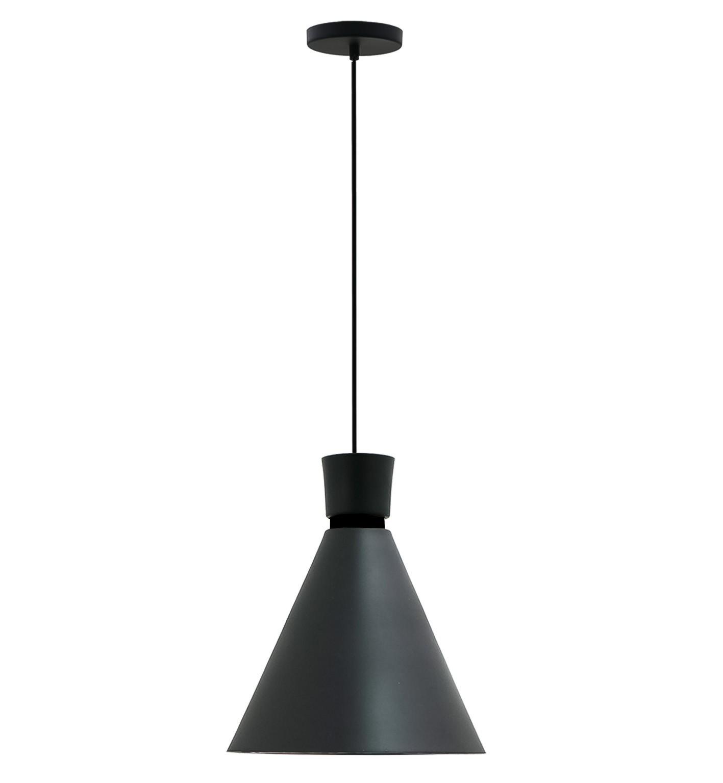 Pendente para cozinha / sala de jantar Dual preto fosco para 1x lâmpada e-27 210mm x 200mm