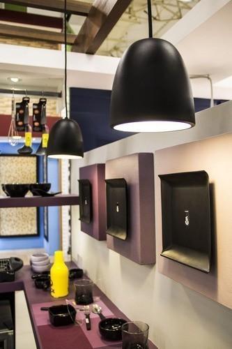 Pendente para sala de jantar Cloche redondo ST20050 cobre escovado para 1 Lâmpada E27 30cm X 30cm Newline