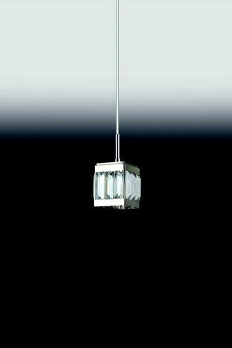 Pendente sala de jantar cristal K9 Transparente 4739 Larg. 90mm x ALT. 160mm  para 1x Lâmpada G9
