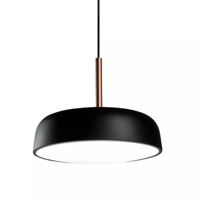 Pendente para sala de jantar/estar Victoria 166 redondo Café/Cobre em alumínio para 3 lâmpadas E27 40cm x 26cm Newline