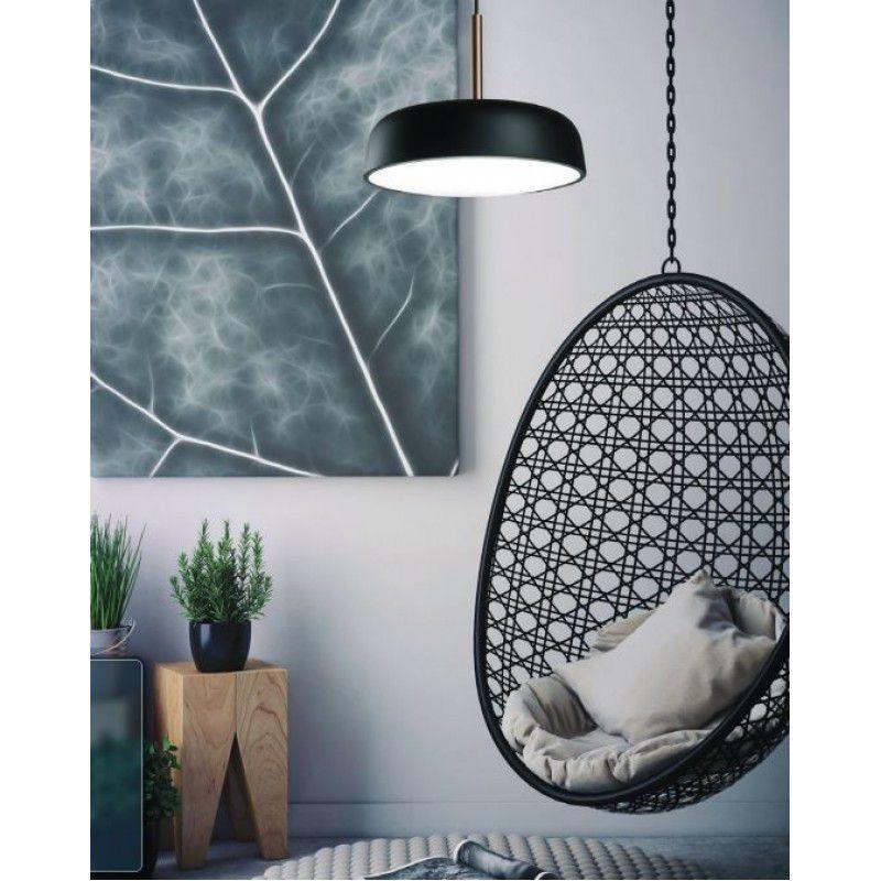 Pendente para sala / sala de jantar Victoria 166 redondo Branco/Cobre em alumínio para 3 lâmpadas E27 40x26cm Newline