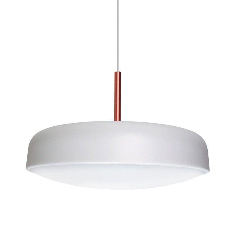 Pendente para sala de jantar Victoria 165 redondo Branco/Cobre em alumínio para  2 lâmpadas E27  29x24,5cm Newline