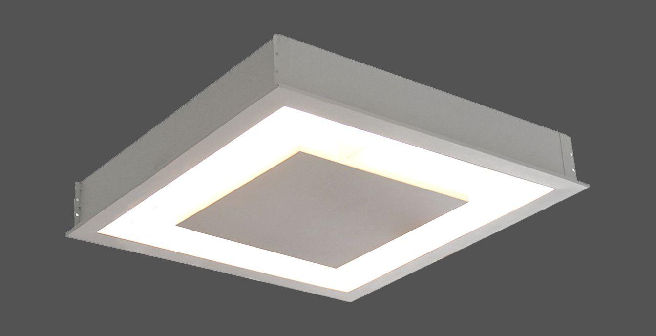 Plafon de Embutir luz indireta de 30cm P/ 2x Lâmpadas G-9