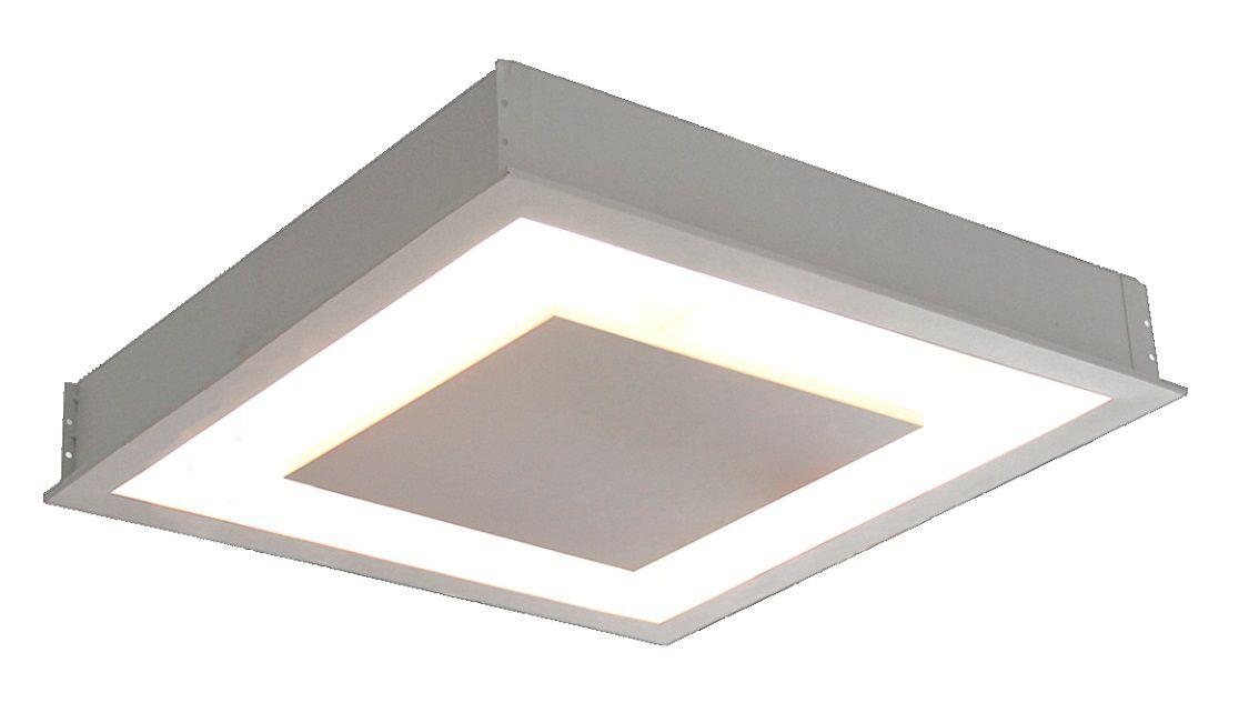 Plafon de Embutir luz indireta de 40cm P/ 4x Lâmpadas G-9