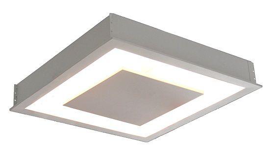 Plafon de Embutir luz indireta de 50cm P/ 6x Lâmpadas G-9