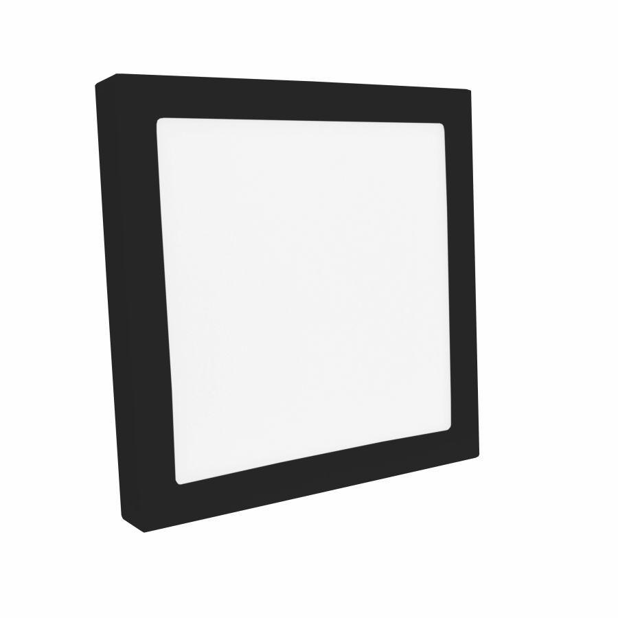 Plafon LED Sobrepor Jet Black 20W 5700K 22x22x3,5 SAVE ENERGY