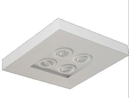 Plafon luz indireta e direta 40 cm