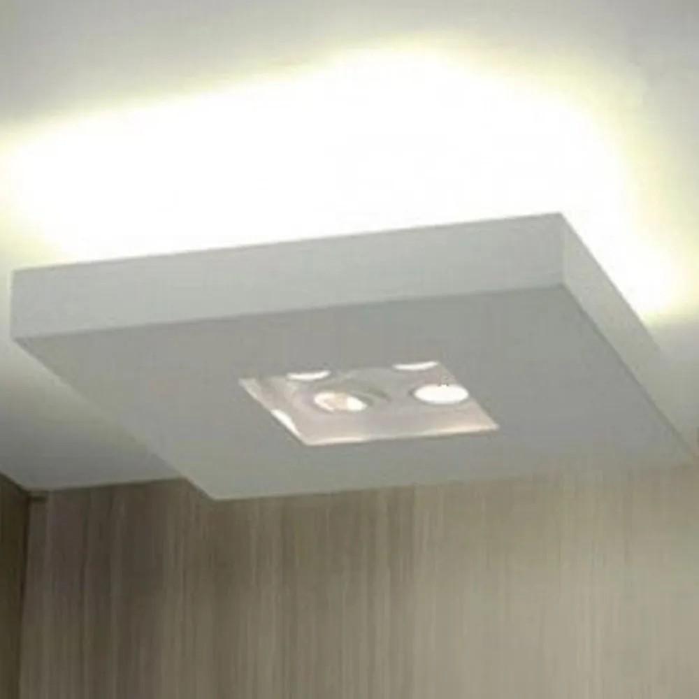 Plafon luz indireta e direta 50 cm