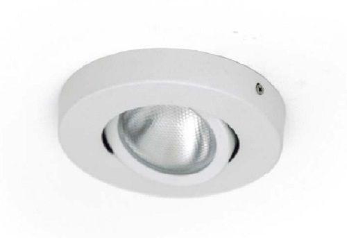 Plafon Orion 01168 de sobrepor em alumínio branco texturizado para 1 lâmpada GU10 120x120mm Acend